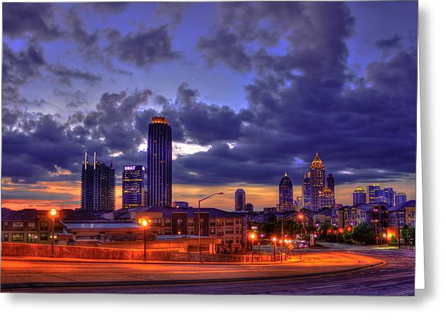 Sunrise Supreme Atlantic Station Midtown Atlanta  Greeting Card