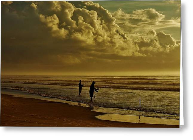 Sunrise Surf Fishing Greeting Card