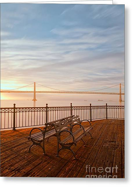 Greeting Card featuring the photograph Sunrise To The Bay by Jonathan Nguyen