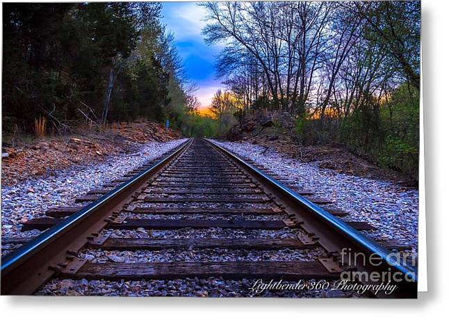 Sunrise Tracks Greeting Card