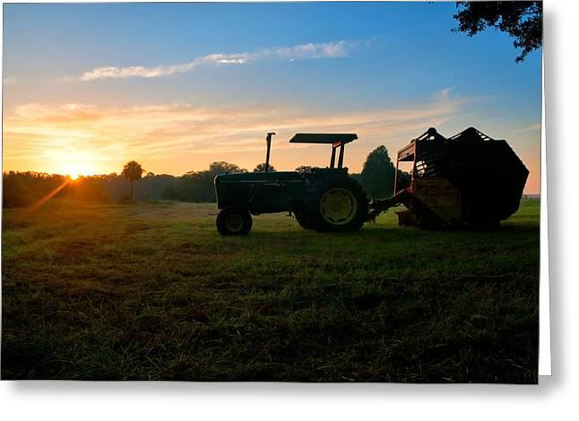 Sunrise Tractor Greeting Card