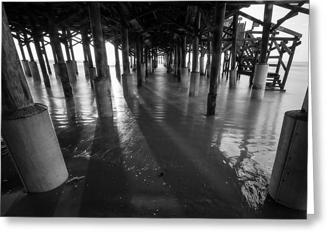 Sunrise Under Pier Greeting Card