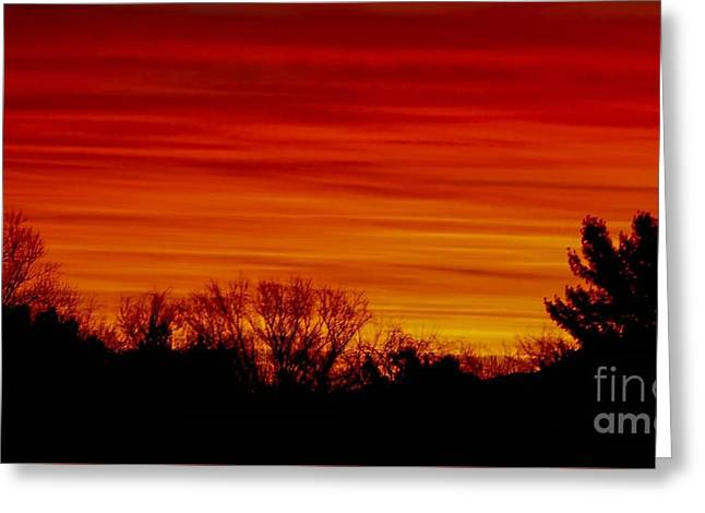 Greeting Card featuring the photograph Sunrise Y-town by Angela J Wright