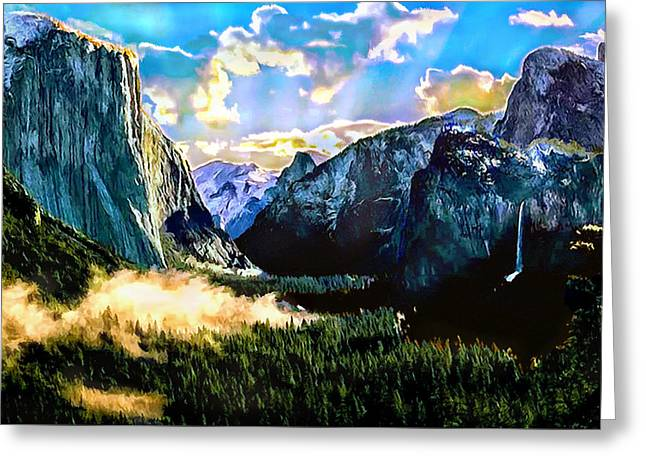 Sunrise Yosemite Valley Nationalpark Greeting Card