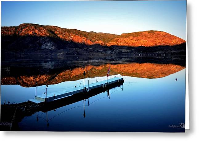 Sunrising - Skaha Lake 3-18-2014 Greeting Card