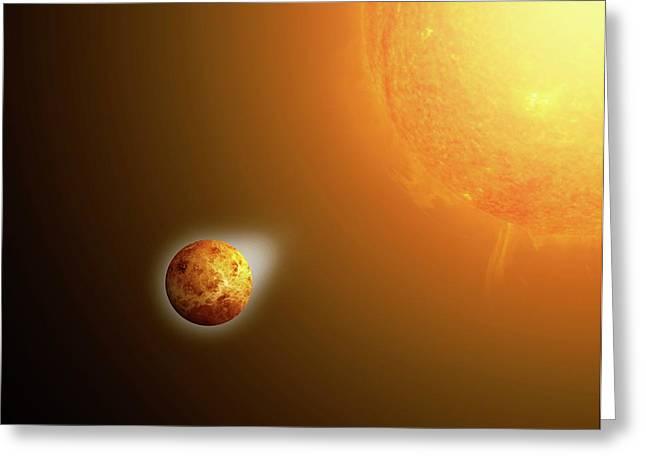Sun's Gravitational Pull On Venus Greeting Card