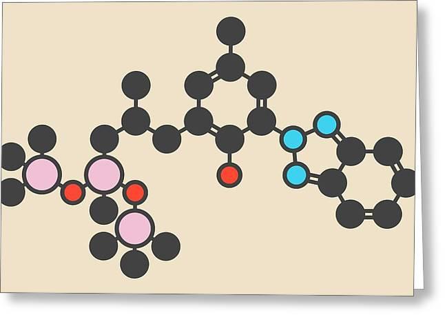 Sunscreen Molecule Greeting Card by Molekuul
