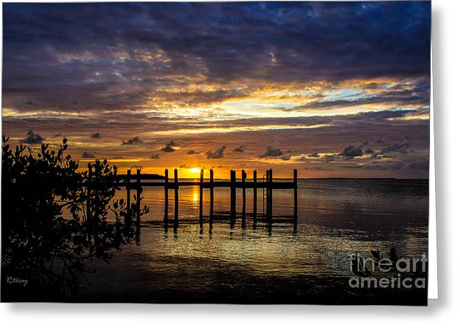 The Day That Was Greeting Card by Rene Triay Photography