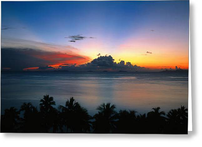 Sunset & Cloud Thailand Greeting Card by Panoramic Images