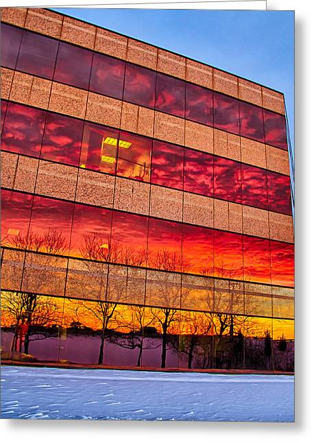 Sunset 1-3-14 Northern Illinois 004 Greeting Card by Michael  Bennett
