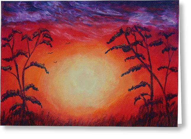 Sunset 1 Greeting Card by Jeanne Fischer