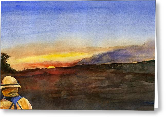 Sunset 18 Fires Greeting Card