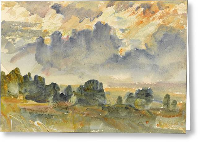 Sunset, 1915 Greeting Card