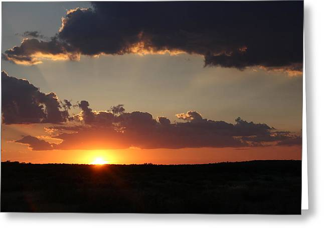 Greeting Card featuring the photograph Sunset 2 by Elizabeth Budd