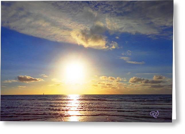 Sunset 2 Greeting Card by Ute Posegga-Rudel