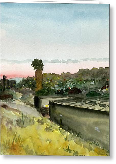 Sunset 25 Lemon Grove Greeting Card