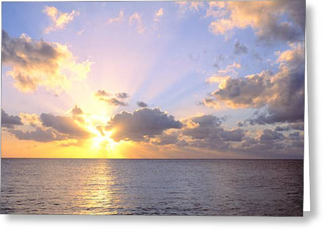 Sunset 7 Mile Beach Cayman Islands Greeting Card