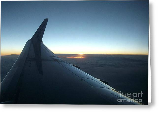 Sunset Above The Clouds Greeting Card