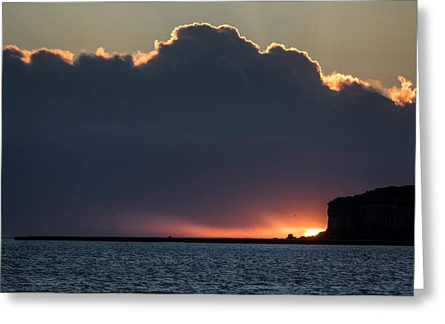 Sunset Above The Valdes Peninsula Greeting Card