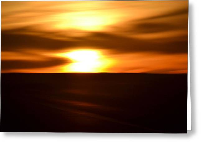 Greeting Card featuring the photograph Sunset Abstract II by Nadalyn Larsen