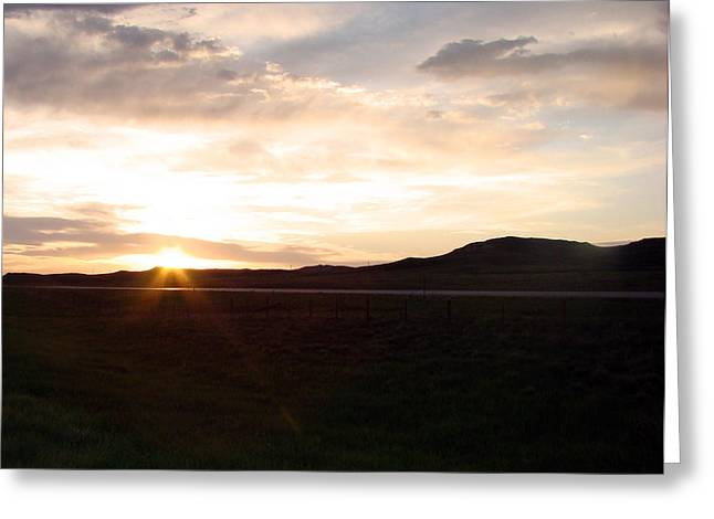 Greeting Card featuring the photograph Sunset Across I 90 by Cathy Anderson