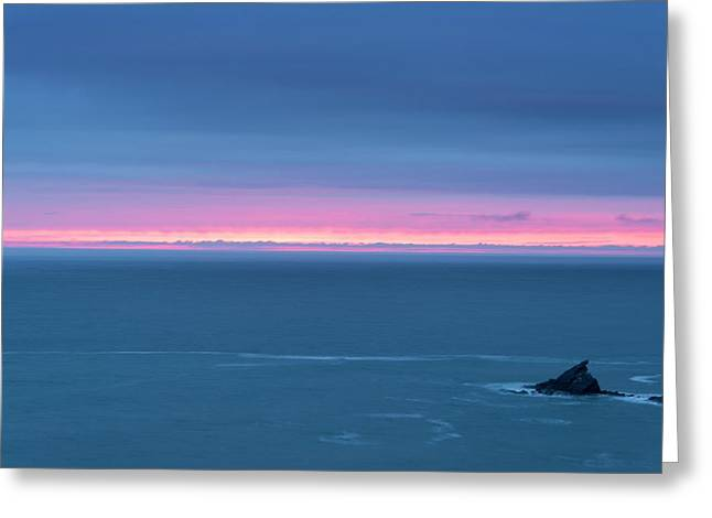 Sunset Afterglow Near Hartland Greeting Card by David Parker