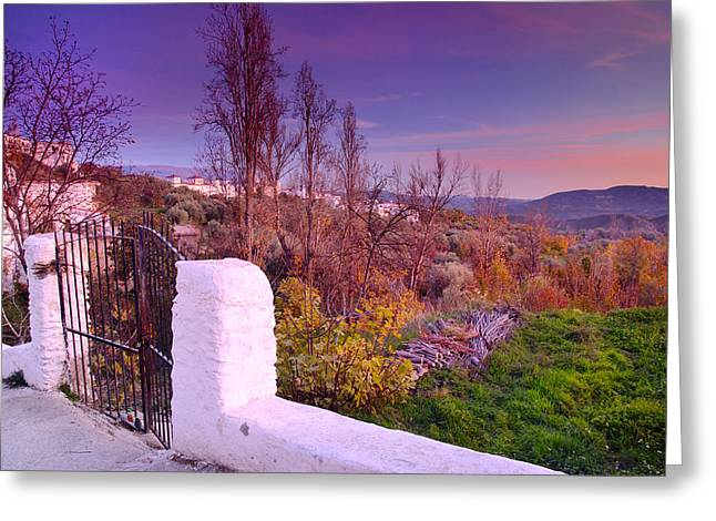 Sunset Al Alpujarras Village Greeting Card