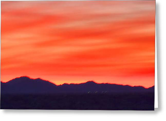 Greeting Card featuring the photograph Sunset Algodones Dunes by Hugh Smith