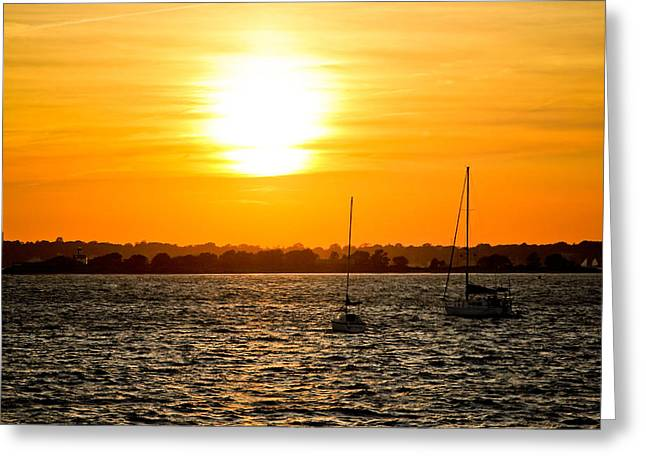 Sunset  Greeting Card by Allan Millora Photography
