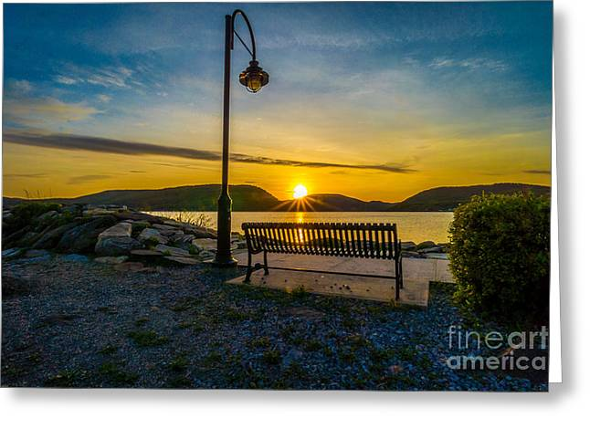Sunset Along The Hudson Valley Greeting Card