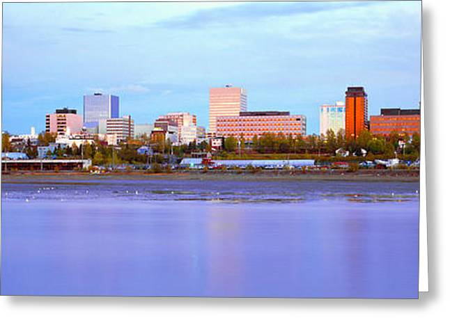Sunset, Anchorage, Alaska Greeting Card by Panoramic Images