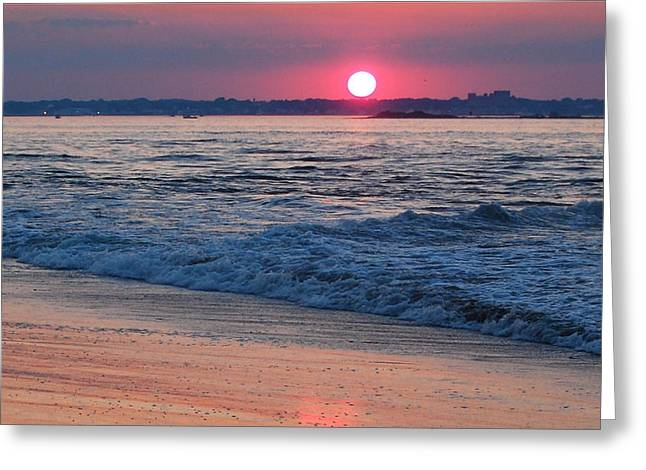 Sunset And Beach Greeting Card