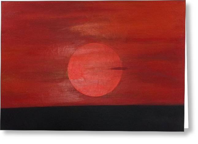 Sunset Greeting Card by Andrea Friedell
