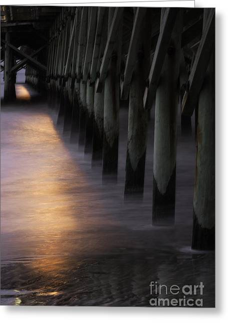 Sunset Apache Pier Greeting Card