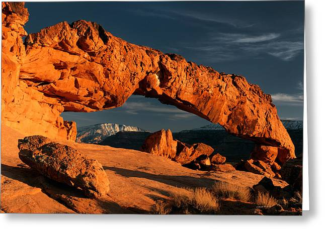 Sunset Arch 2 Greeting Card by Leland D Howard