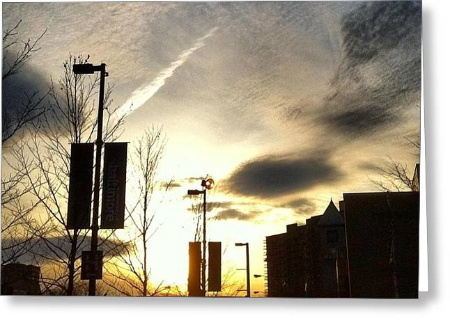 Sunset At Academic Center Greeting Card by Toni Martsoukos