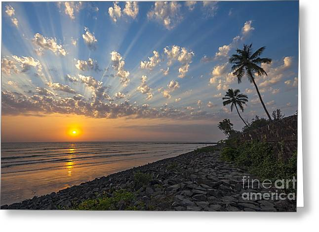 Sunset At Alibag, Alibag, 2007 Greeting Card