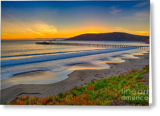 Sunset At Avila Beach Greeting Card