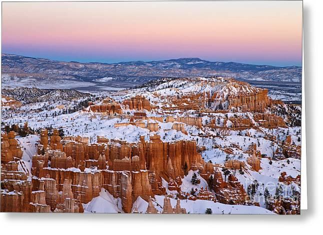 Sunset At Bryce Canyon National Park Utah Greeting Card
