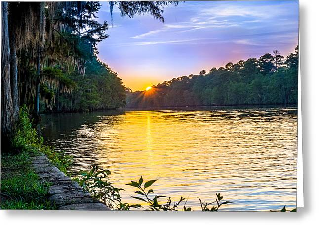 Sunset At Caddo Lake State Park Greeting Card by Geoff Mckay