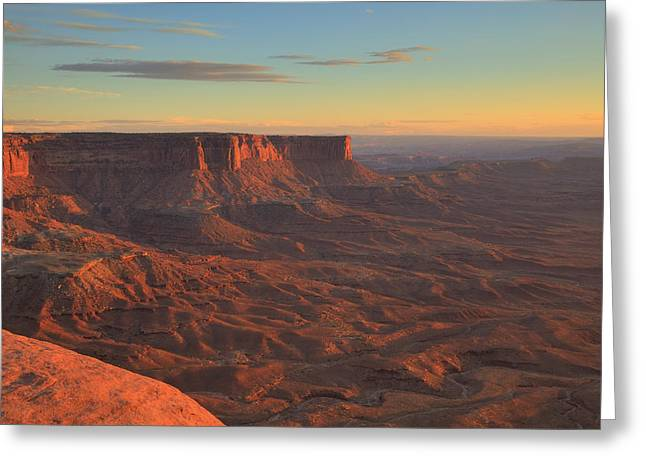 Greeting Card featuring the photograph Sunset At Canyonlands by Alan Vance Ley