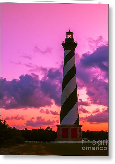 Sunset At Cape Hatteras Vertical  Greeting Card