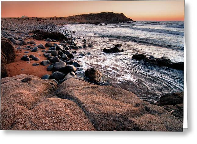 Greeting Card featuring the photograph Sunset At Capo Pecora - Sardinia by Laura Melis