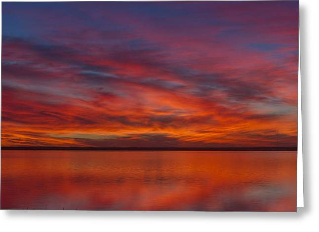 Sunset At Cheyenne Bottoms 1 Greeting Card