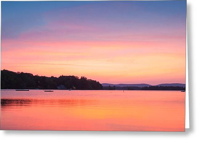 Sunset At Chickawaukee Lake II Greeting Card by Ernest Puglisi