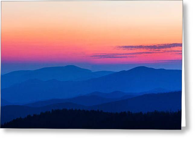 Sunset At Clingmans Dome, Great Smoky Greeting Card