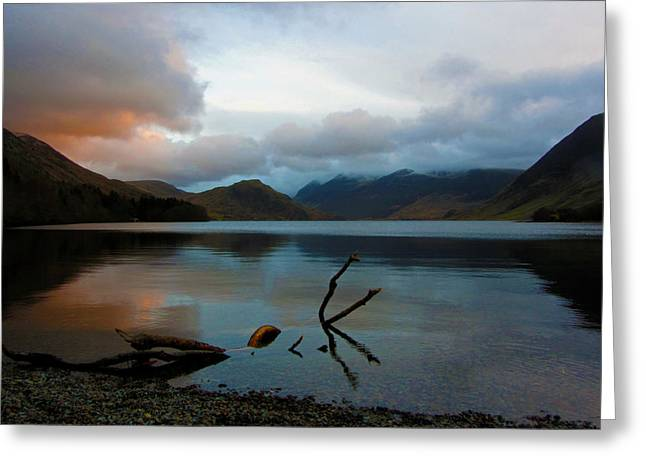 Sunset At Crummock Water Greeting Card by Chris Whittle