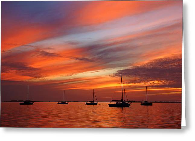 Greeting Card featuring the photograph Sunset At Crystal Beach by Daniel Woodrum