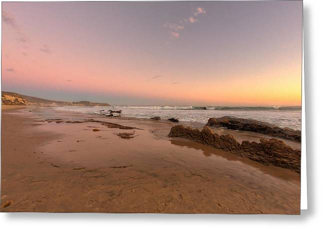 Sunset At Crystal Cove Hdr Greeting Card by Angela A Stanton