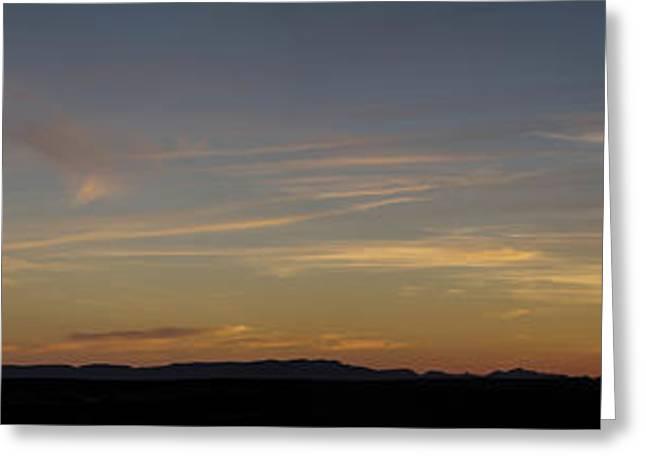 Sunset At Edge Of Erg Chebbi Dunes Greeting Card